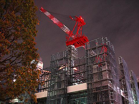 赤坂見附近くの工事現場